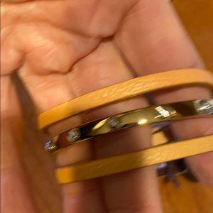 NWT henri bendel triple wrap tan bracelet